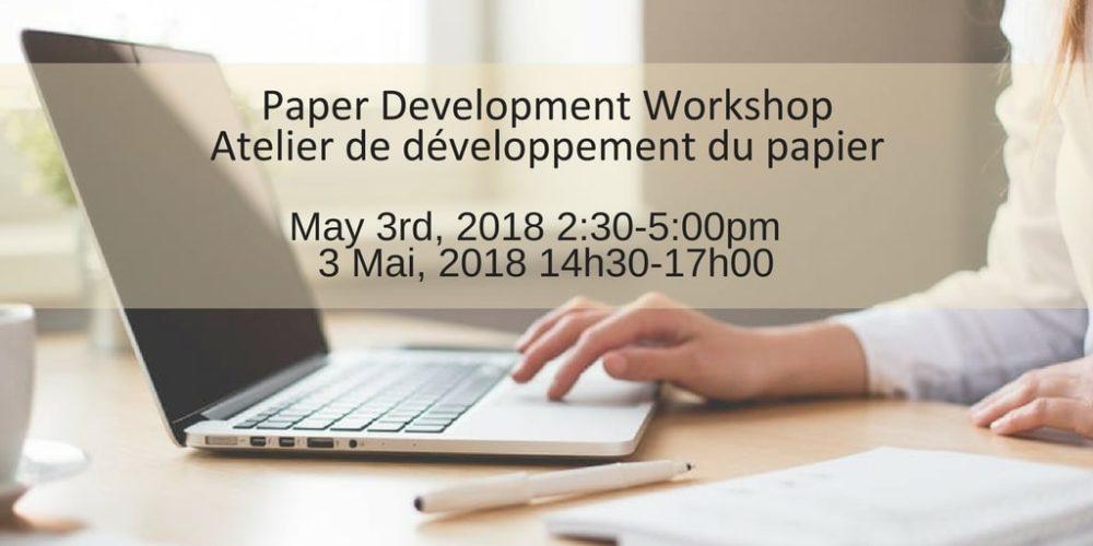 CCSBE 2018 Paper Development Workshop / Atelier de développement du papier