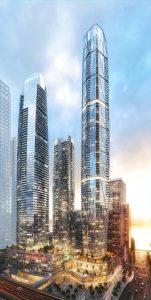 Toronto's Pinnacle One Yonge complex, designed by Hariri Pontarini for Pinnacle International