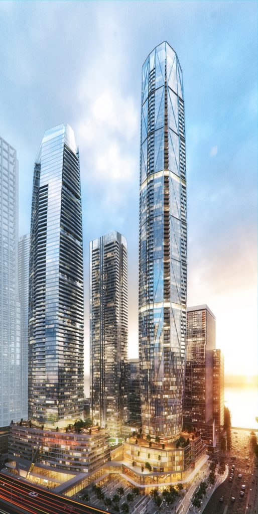 Toronto's Pinnacle One Yonge complex, designed by Hariri Pontarini for Pinnacle International