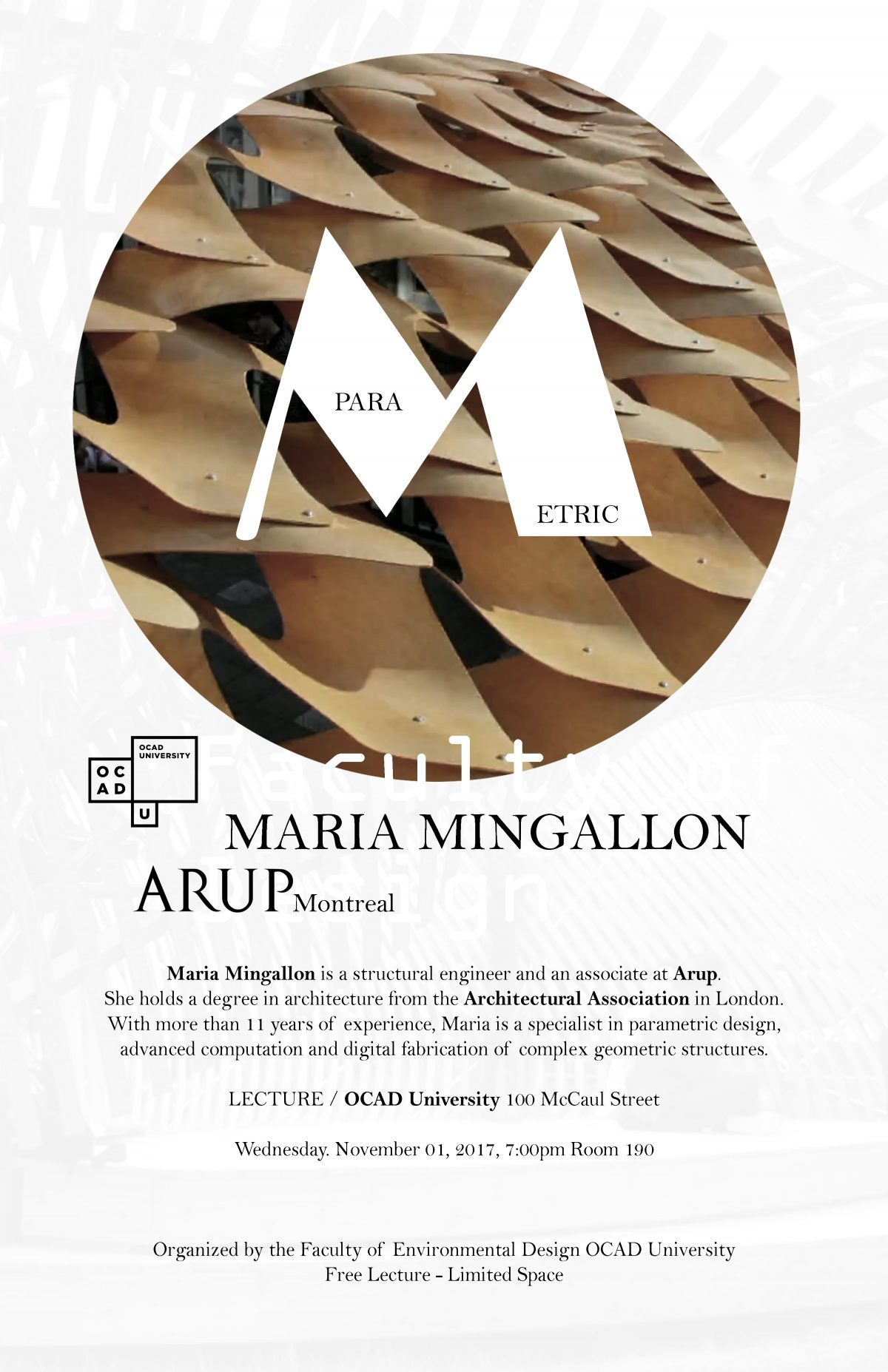 Parametric Design: Maria Mingallon at OCAD