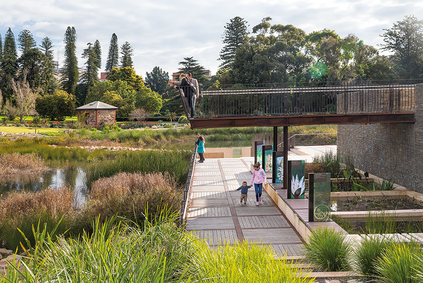 Urban wetland in heart of adelaide wins australian for Landscaping adelaide north