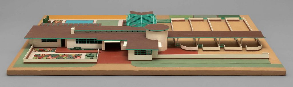 Model of Davidson Little Farms Unit project, 1932-1933