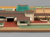 Model of Davidson Little Farms Unit project, 1932-1933