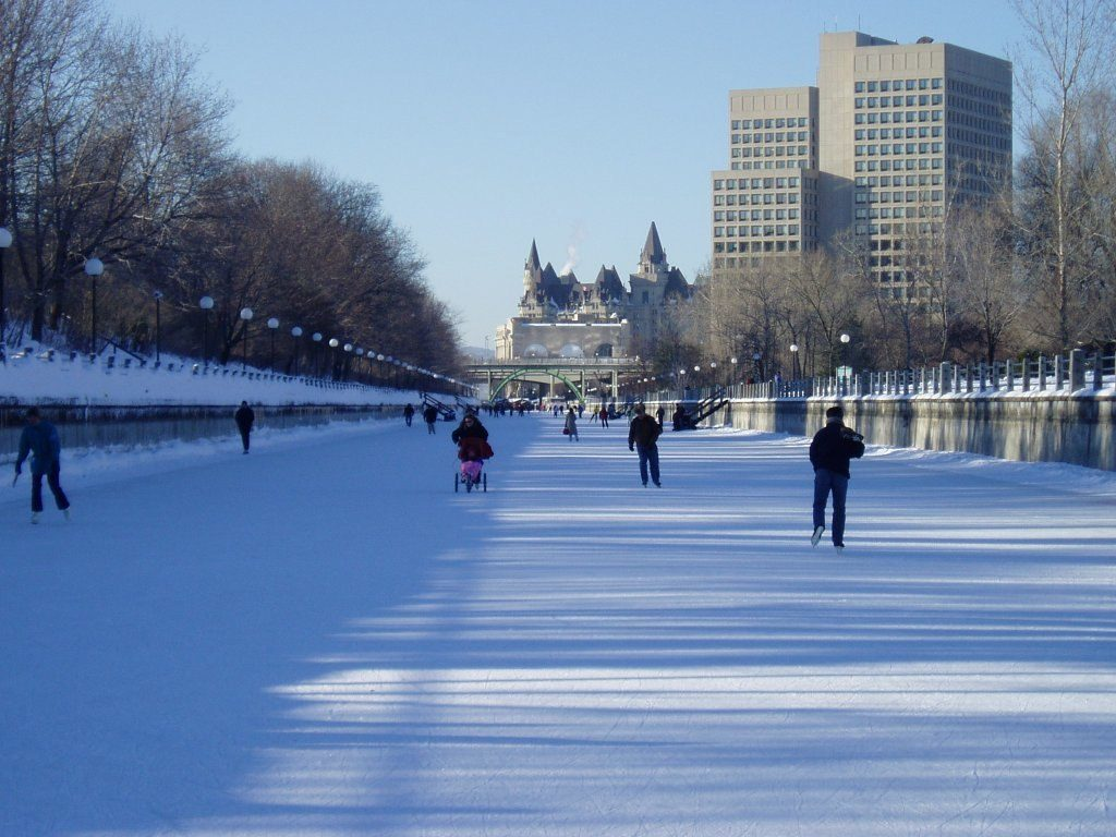 Climate Change. Ottawa's Rideau Canal in winter (2005). Photo by SimonP via Wikimedia Commons