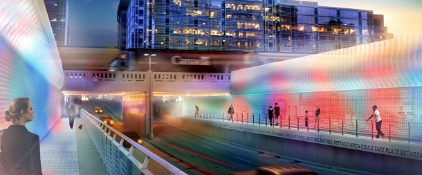 Fourth Street Underpass enhancement. Image via City of Calgary