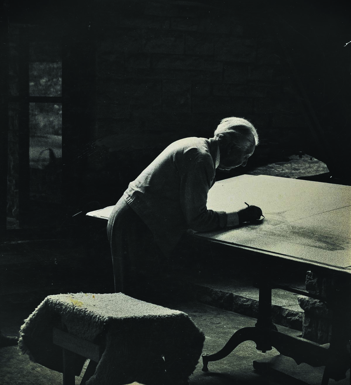 Frank Lloyd Wright. Photographer unknown.