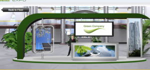 Virtual presentation booth at the Green Building Expo