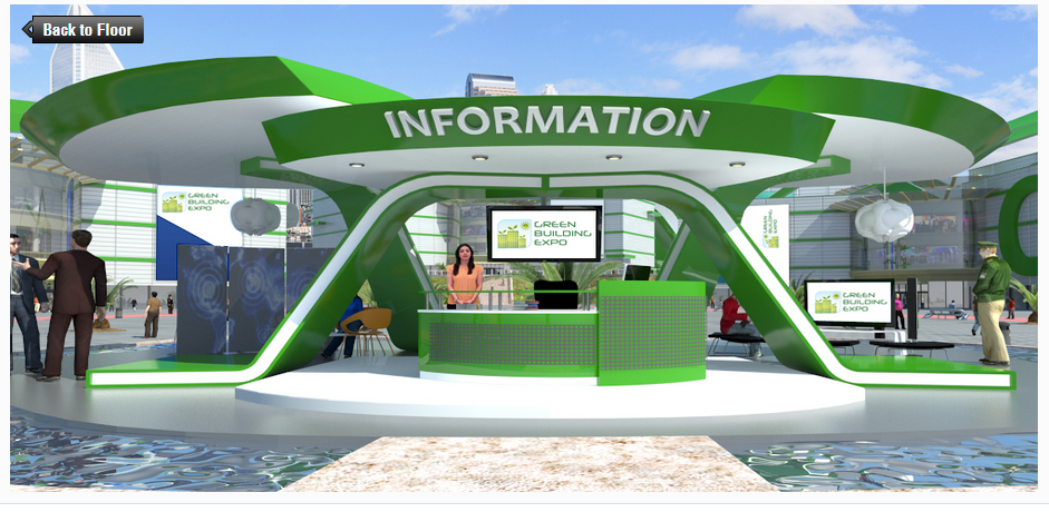 Virtual networking lounge at the Green Building Expo