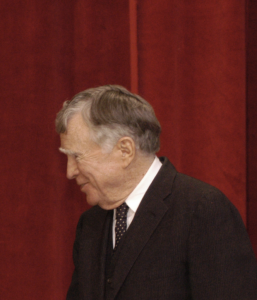 Vincent Scully in 2006. Photo by Vivian Ronay, courtesy of the National Building Museum