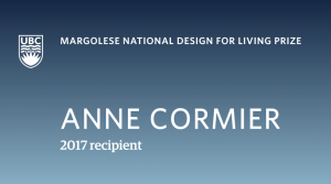 Margolese National Design for Living Prize, Anne Cormier