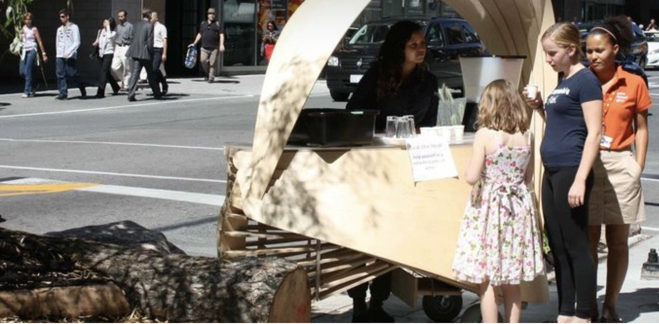 Summer pop-up on King Street. Photo by Robert Voigt via City of Toronto.