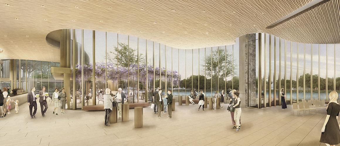 Theatre lobby. Image courtesy of Hariri Pontarini / Stratford Festival