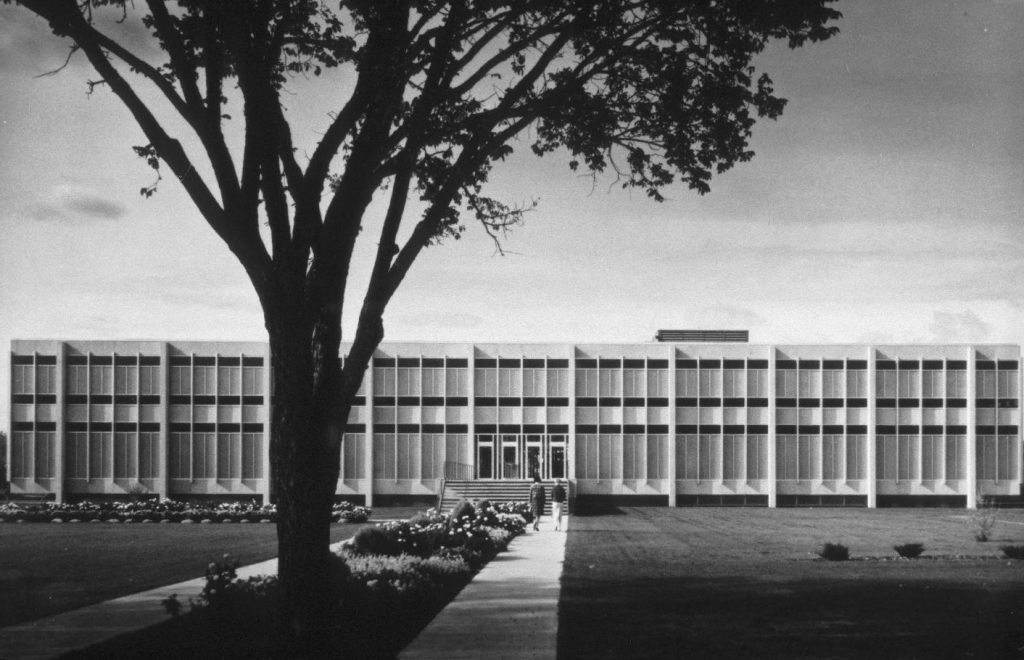 The John A. Russell Building at the University of Manitoba. Photo via Winnipeg Architecture Foundation.