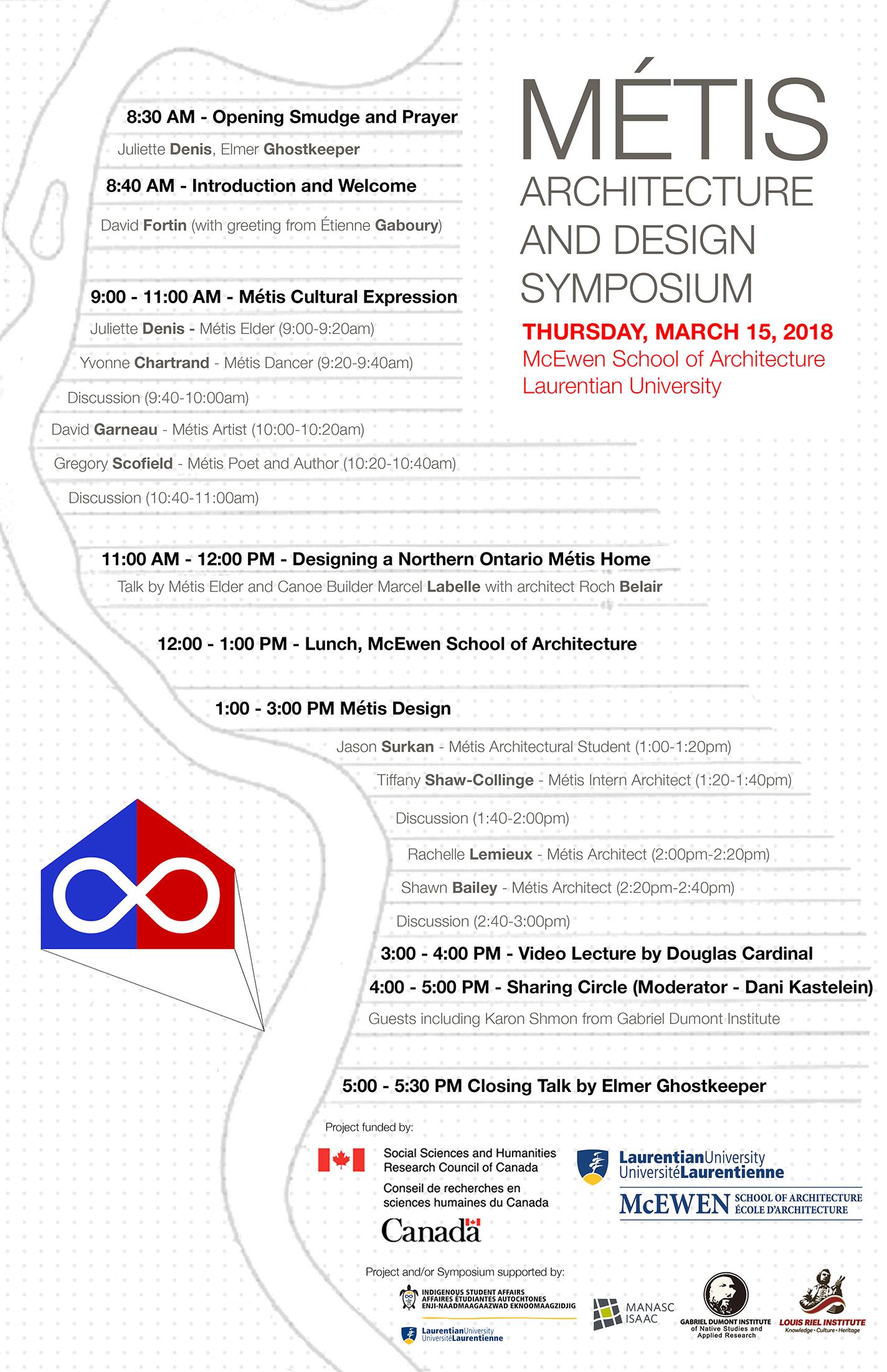 Métis Architecture and Design Symposium, McEwen, Laurentian