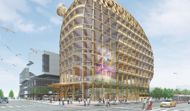 Shigeru Ban Architects, Brook McIlroy, George Brown College