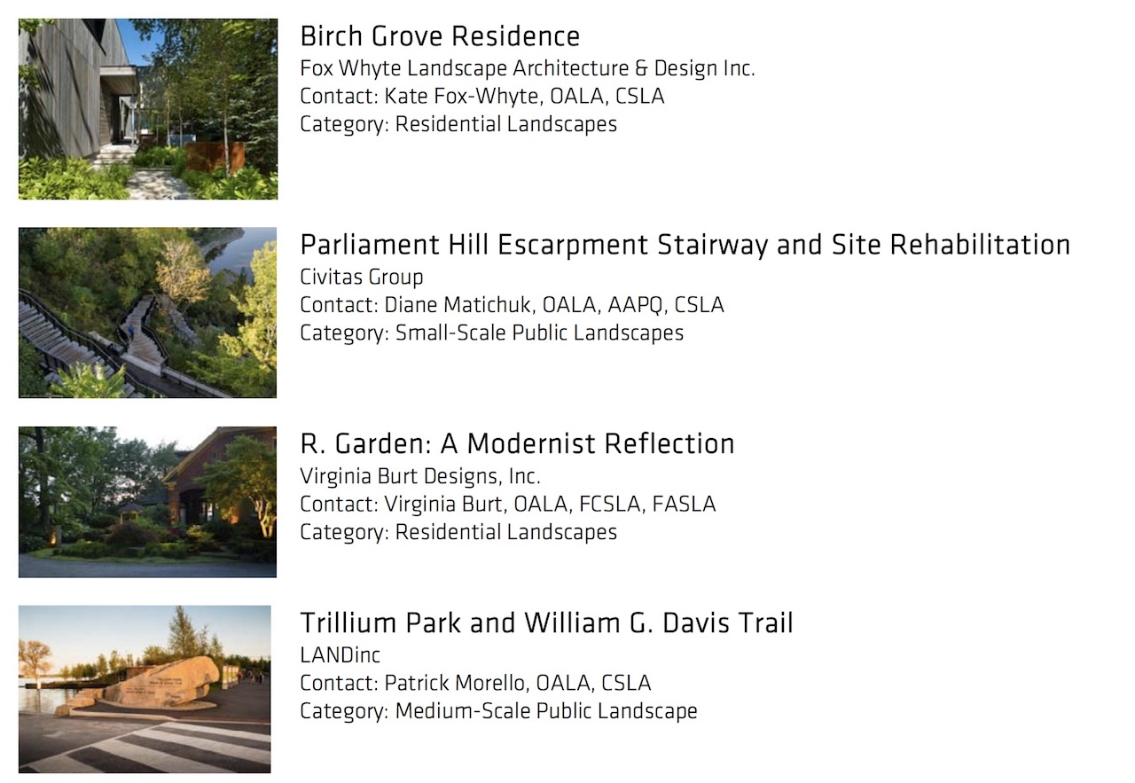 CSLA landscape architecture Awards of Excellece