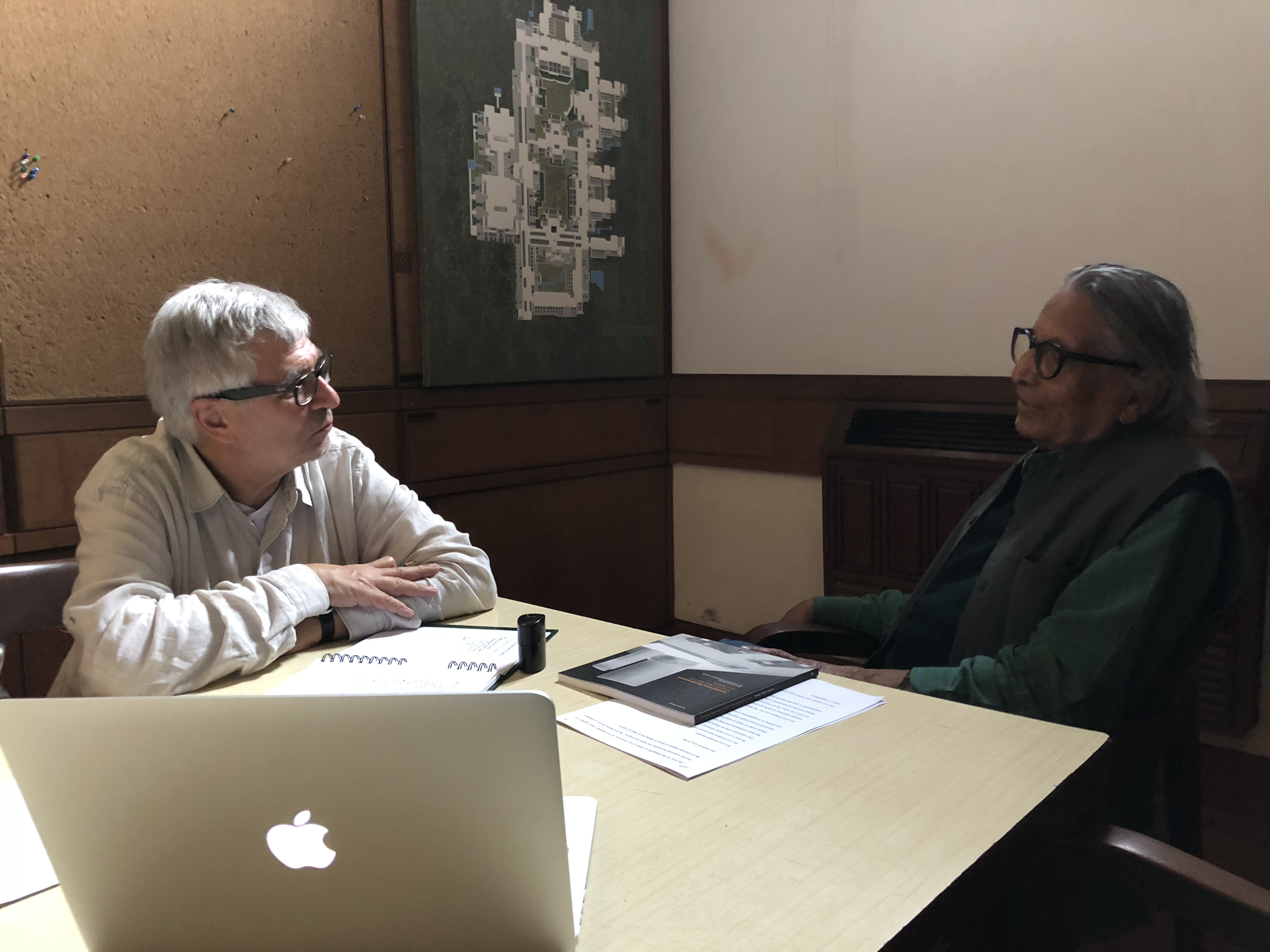 A meeting with B. V. Doshi and a conversation on the 1958 Toronto City Hall and Square Competition
