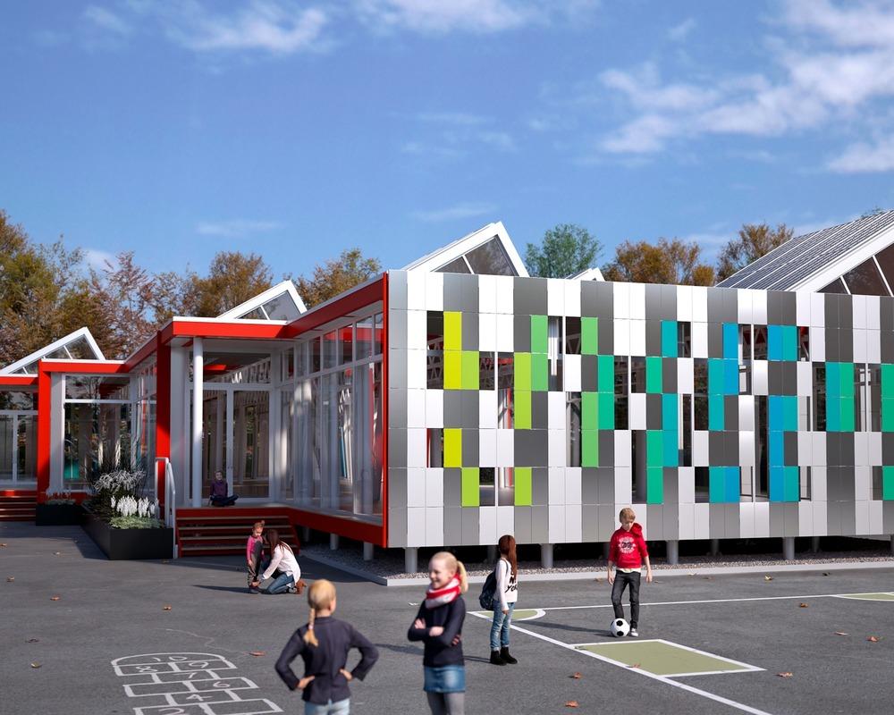 School in Motion, aluminium, Quebec, Alcoa