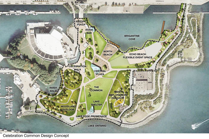 Celebration Common design concept. Photo via Province of Ontario / DTAH