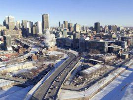 The De La Commune redevelopment site is the subject of the C40 competition. Photo via Ville de Montréal