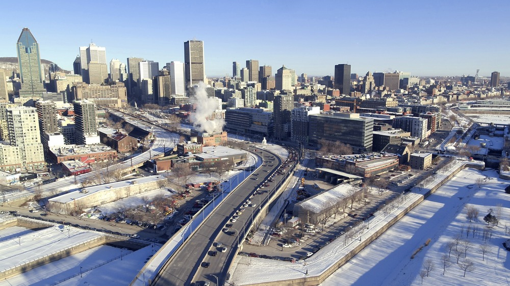 The De La Commune redevelopment site is the subject of the C40 competition. Photo via Ville de Montréal