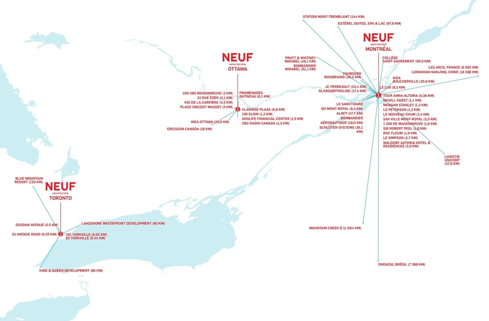 NEUF architect(e)s' Three Offices: Montreal - Toronto - Ottawa