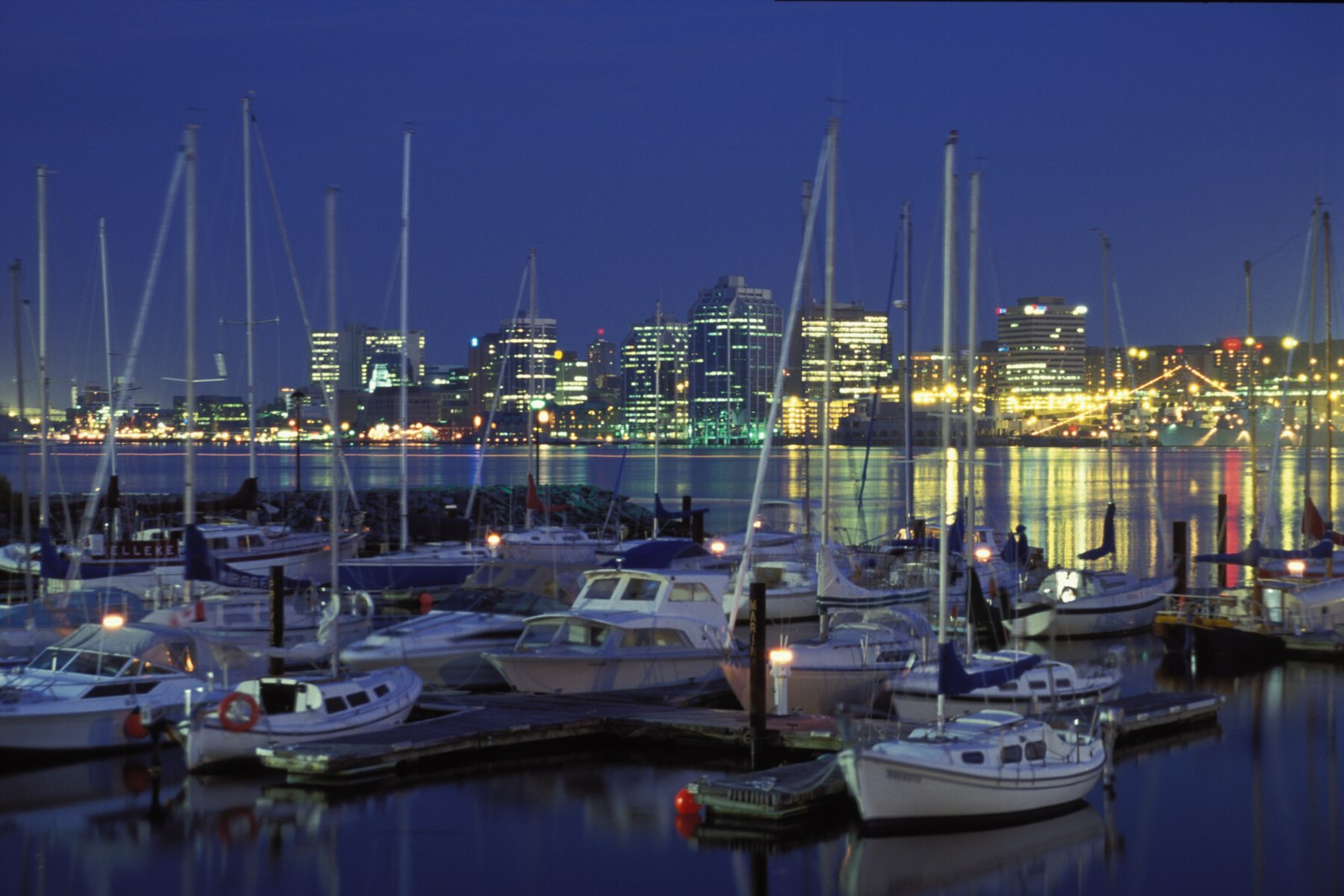 An evening view of the Halifax waterfront. Photo via Wikimedia Commons.
