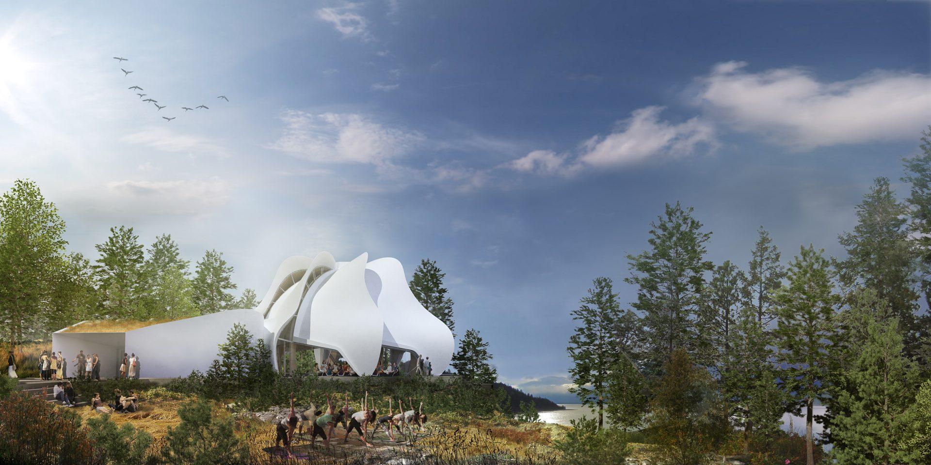 Temple of Light. Rendering via Patkau Architects.