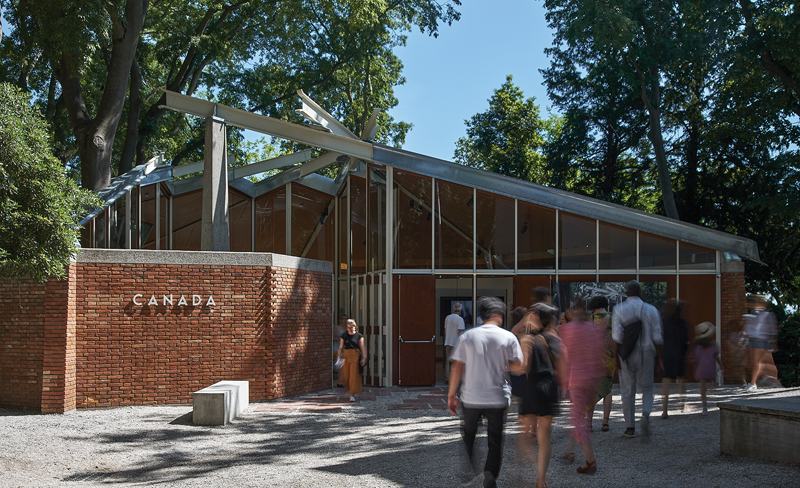 The newly reconstructed Canada Pavilion in the Giardini., Venice Biennale
