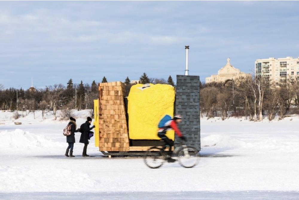 """Carbuncle,"" a 2017 winner.   Image via Warming Huts."