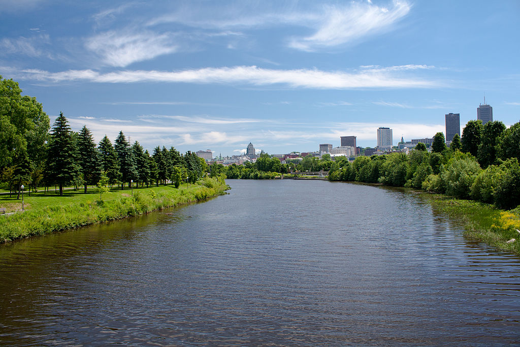 The Saint-Charles River in Quebec City. Photo by Jstremblay via Wikimedia Commons.