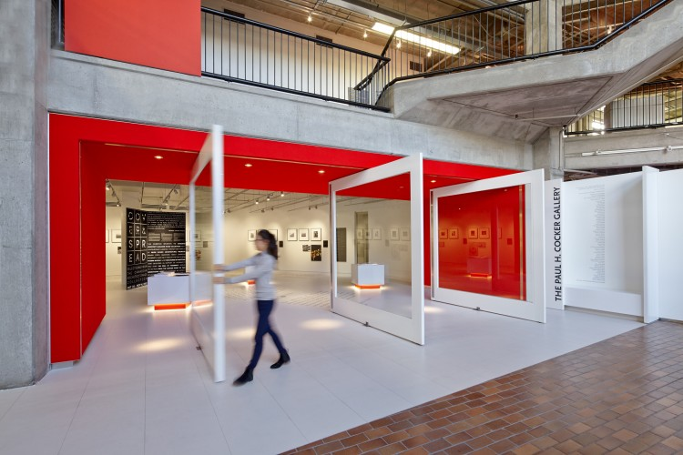 Designed by Gow Hastings, the Paul H. Cocker Gallery at 325 Church hosts the year's Ryerson DAS lectures and exhibitions. Image via Gow Hastings.
