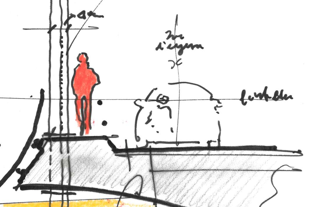 A notional drawing for the new bridge. Image via Renzo Piano Building Workshop.