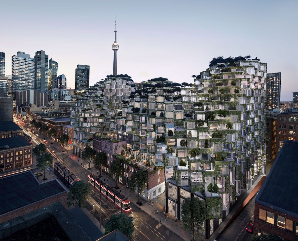 A rendering of the King West Project to be built on the site. Image via Westbank