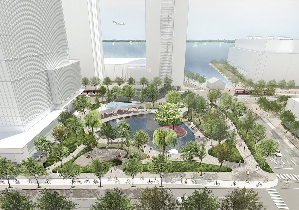 An artist rendering of Love Park, by Claude Cormier et Associés (Montreal)