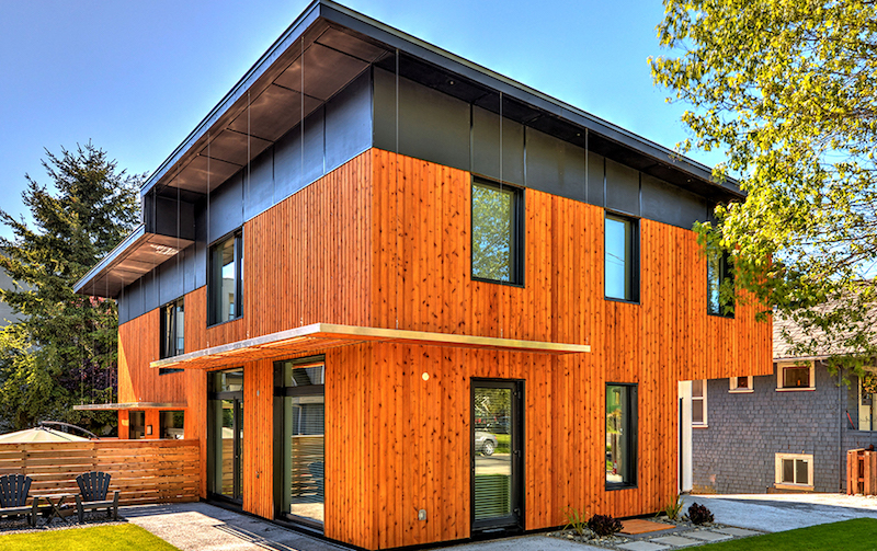 The 'Urban Green Duplex', a certified Passive House in Victoria. Image via Passive House Canada.
