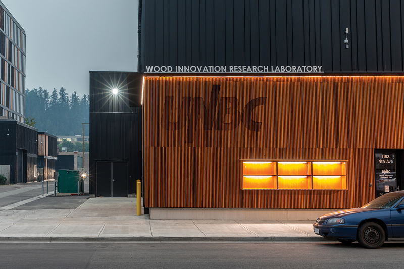 The Wood Innovation Research Laboratory in Prince George is the first North American university building to meet the Passive House standard.