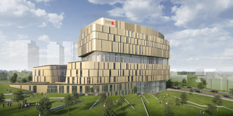 Designed by Diamond Schmitt Architects, the new Markham Campus for York University is one of several campuses to lose funding. Image via York University.