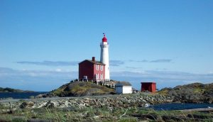 Canada's auditor general has found that the three federal agencies tasked with historic preservation don't even have full lists of the growing number of properties that they own, as maintenance issues become more severe. Photo of Pacific Canada's 1st lighthouse - Fisgard by Gulielmus via Wikimedia Commons.