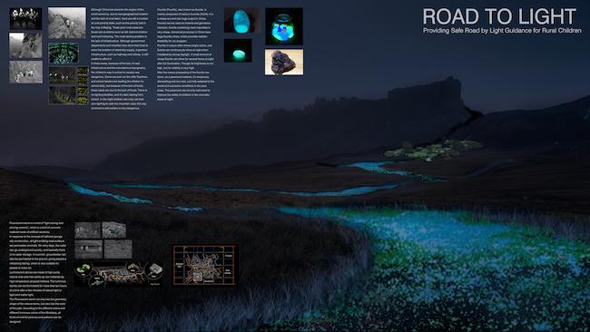 """""""Road to Light"""" by Yuhan Luo, Di Lan, Yuan Liu, Yusong Liu, students from Tianjin University in China"""