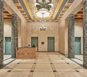 Portions of the historic bank building were restored by heritage consultants EVOQ, including the formal front entrance hall. The lower levels of the building now house meeting rooms and a conference centre.