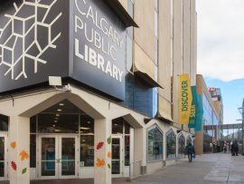 The Castell Building served as the former Central Library. Image via University of Calgary.