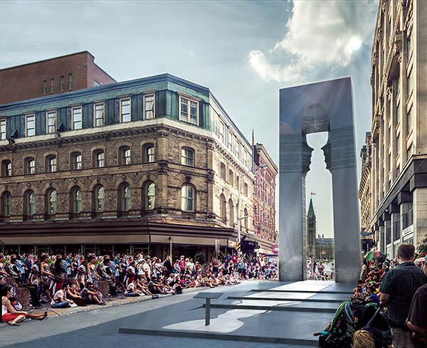 The Arch of Light was a finalist competition entry to Lord Stanley's Gift Monument Competition. The proposal investigates how an iconic form can be reshaped into a monument which engages the public through the measure of time.