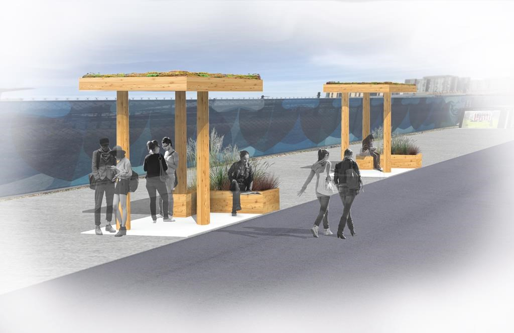 UBC students are investigating the viability of wooded canopies as bus shelters.