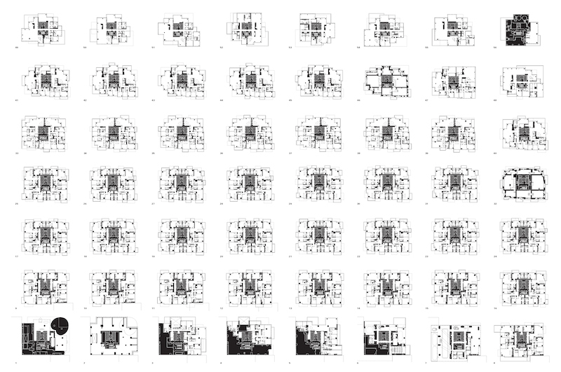 Herzog & de Meuron (Basel, est. 1978). 56 Leonard Street, New York, New York, USA. 2006–2008. Floor plans. Digital drawing files. The Museum of Modern Art, New York. Gift of the Jacques Herzog and Pierre de Meuron Kabinett. Photo © Jacques Herzog und Pierre de Meuron Kabinett, Basel.