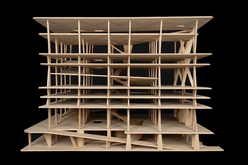 Herzog & de Meuron (Basel, est. 1978). 1111 Lincoln Road, Miami Beach, Florida, USA. 2005–2008. Exhibition model, scale 1:90. Oak, 18 11/16 × 26 × 22 1/16″ (47.5 × 66 × 56 cm). The Museum of Modern Art, New York. Gift of the Jacques Herzog and Pierre de Meuron Kabinett. Photo © Jacques Herzog und Pierre de Meuron Kabinett, Basel.
