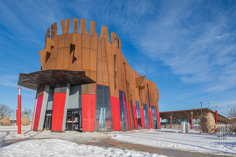 The Pioneer Village Station, by aLL with IBI Group, has an exuberant, primitive-art aesthetic.