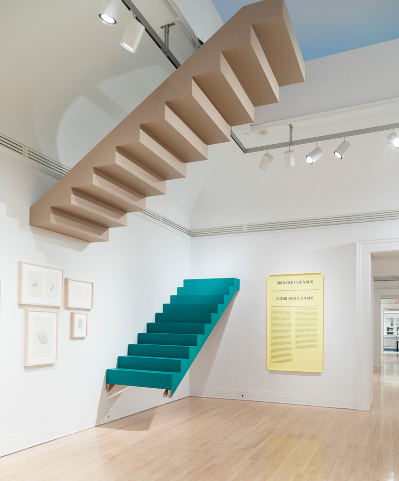 Peter Eisenman's House I included two stairs—none for actual use, and the other an inverted version suspended from the ceiling.