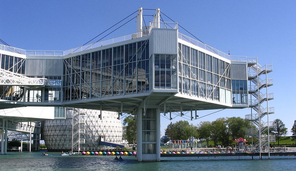 Designed by Eb Zeidler, the pods of Ontario Place are considered iconic 1970s architecture. Photo by sookie via Flickr Commons.