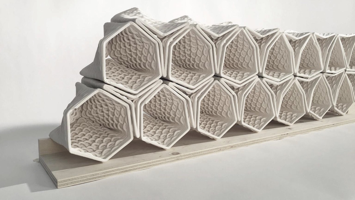Clay & Glass Gallery showcases 3D printed façades by University of Waterloo students